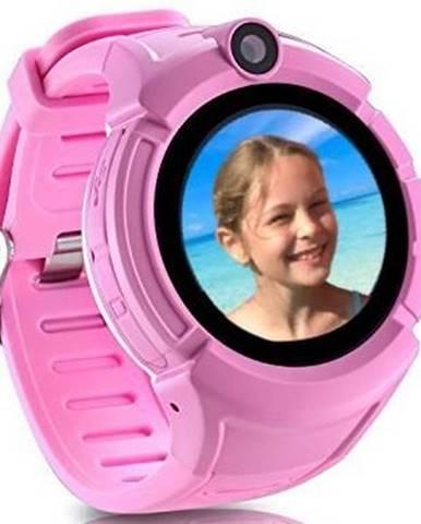 Inteligentné hodinky Carneo GuardKid+ GPS dětské ružové