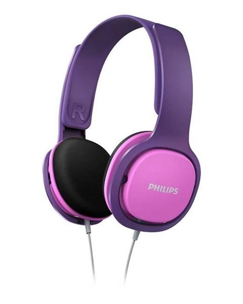 Philips Slúchadlá Philips SHK2000 ružová/fialová