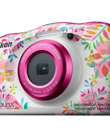 Digitálny fotoaparát Nikon Coolpix  W150 Backpack KIT biely/ružov