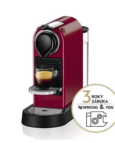 Espresso Krups Nespresso Citiz XN741510 červen