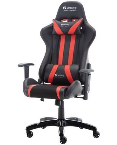 Herná stolička Sandberg Commander čierna/červená