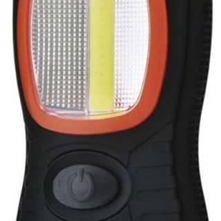 Lampáš Emos LED 3W COB LED + 3x LED,  3x AAA čierna