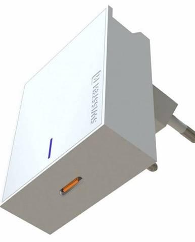 Nabíjačka do siete Swissten USB-C, 45W biela