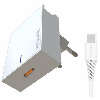 Nabíjačka do siete Swissten USB-C, 25W, Super Fast Charging + USB-C
