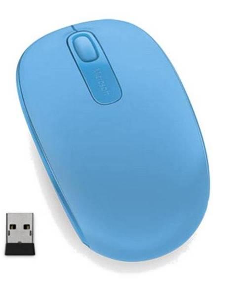 Microsoft Myš  Microsoft Wireless Mobile Mo1850 Cyan modrá / optická / 2