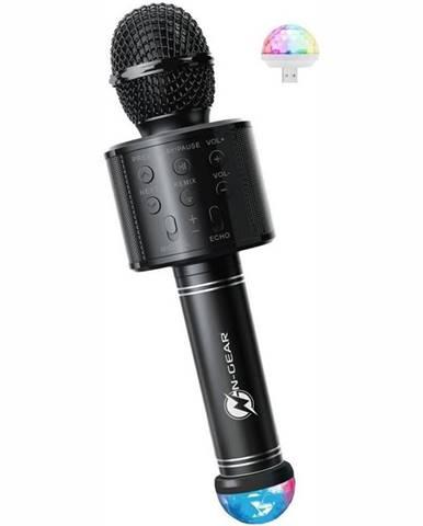 Prenosný reproduktor N-Gear Sing Mic S20L, karaoke mikrofon čierny