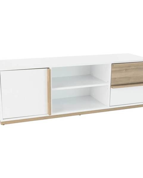 Tempo Kondela RTV stolík orech select/biela KNOX E4