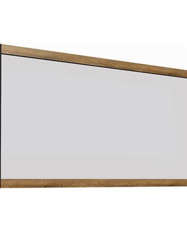 Zrkadlo dub lefkas tmavý/smooth sivý MONTANA LS