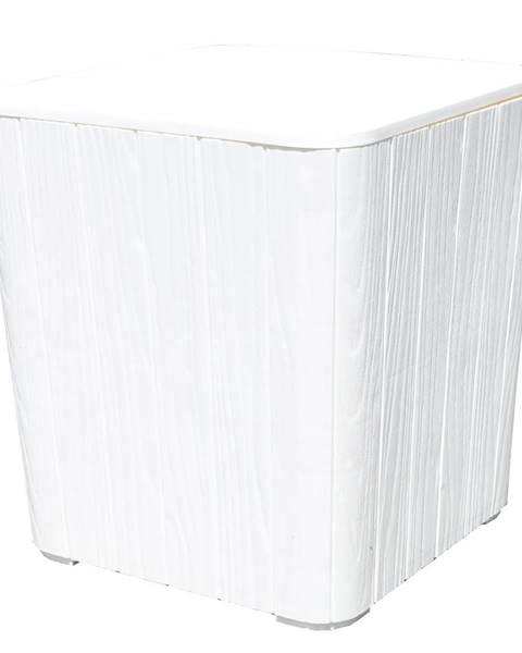 Tempo Kondela Záhradný úložný box/príručný stolík biela IBLIS