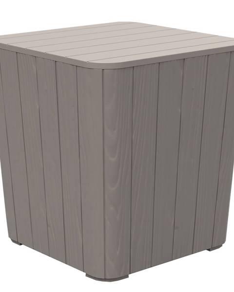 Kondela Záhradný úložný box/príručný stolík sivá IBLIS