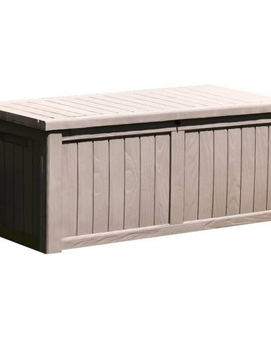 Extra veľký záhradný úložný box 143cm sivá BABUL