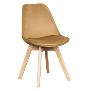 Stolička hnedá Velvet látka/buk LORITA