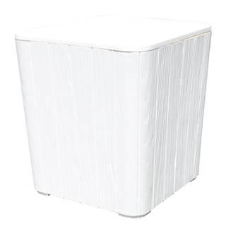 Záhradný úložný box/príručný stolík biela IBLIS