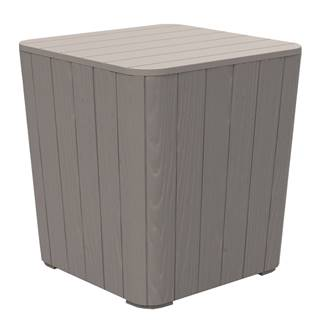 Záhradný úložný box/príručný stolík sivá IBLIS