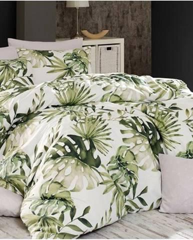 BedTex Bavlnené obliečky Botanic zelená