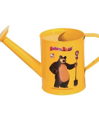 Bino Kanvička Máša a medveď žltá, 25 cm