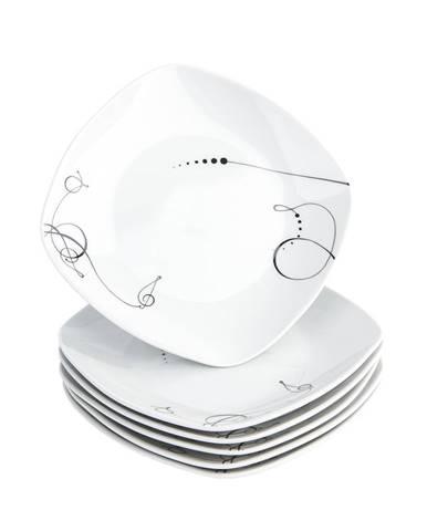 Domestic 6-dielna sada dezertných tanierov Chanson, 19 cm