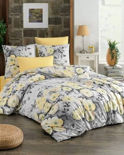 BedTex BedTex Bavlnené obliečky Alisa žltá, 140 x 200 cm, 70 x 90 cm