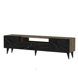 TV stolík CAVELLI orech/čierna