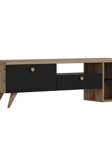 Sconto TV stolík PARION čierna/dub