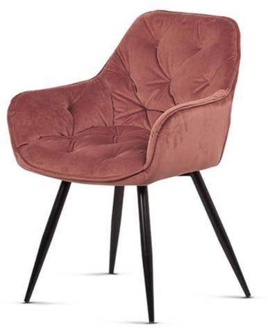 Jedálenská stolička ELIZABETH staroružová/čierna
