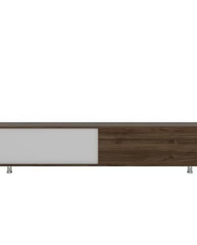TV stolík NEHI orech/biela