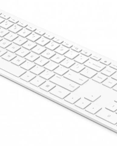 Klávesnica HP 600, bezdrôtová, CZ, nízkoprofilová, biela