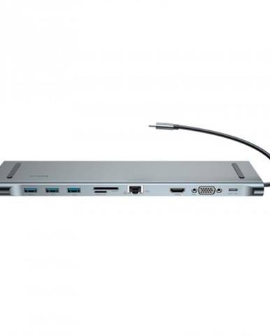 Dokovacia stanica Baseus Enjoyment Series USB-C adaptér, šedá ROZ