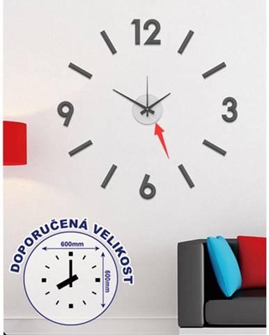 Nástenné hodiny - H16, 50 cm, čierna