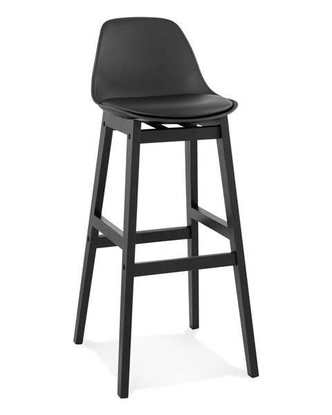 Kokoon Čierna barová stolička Kokoon Turel, výška sedu 79 cm