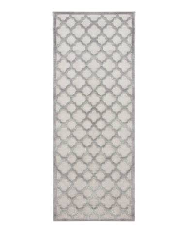 Sivý behúň z viskózy Mint Rugs Bryon, 80 × 250 cm