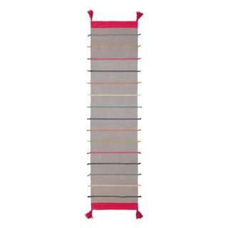 Sivý bavlnený koberec Flair Rugs Nahla, 60 x 200 cm