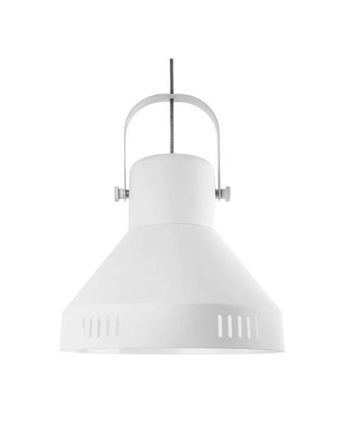 Leitmotiv Biele závesné svietidlo Leitmotiv Tuned Iron, ø 35 cm