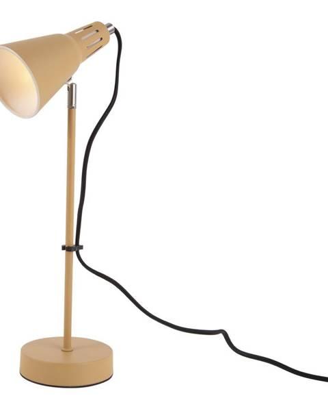 Leitmotiv Horčicovožltá stolová lampa Leitmotiv Mini Cone, ø 16 cm