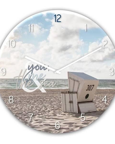 Styler Sklenené nástenné hodiny Styler The Se, ø 30 cm