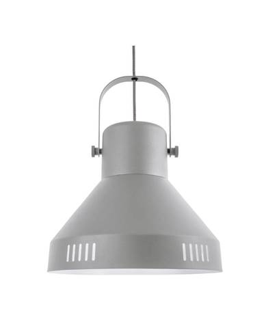 Sivé závesné svietidlo Leitmotiv Tuned Iron, ø 35 cm