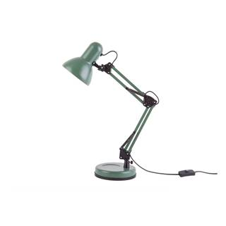 Zelená stolová lampa s čiernymi detailmi Leitmotiv Hobby, ø 12,5 cm