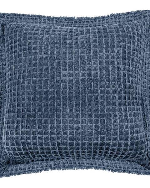 Tiseco Home Studio Modrý bavlnený dekoratívny vankúš Tiseco Home Studio Waffle, 45 x 45 cm