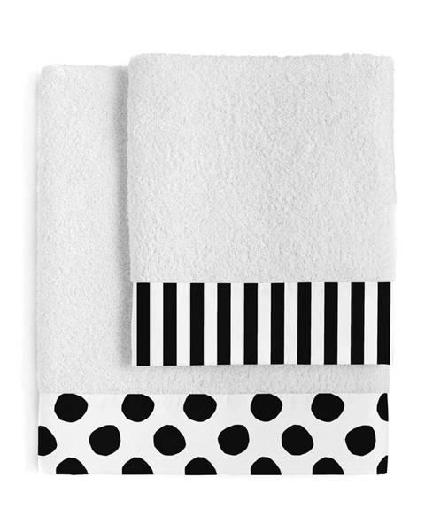 Blanc Súprava 2 bavlnených uterákov Blanc Dot