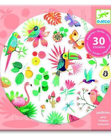 Sada 30 samolepiek Djeco Tropical Paradise