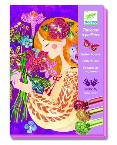 Výtvarný set Djeco Flower Girls