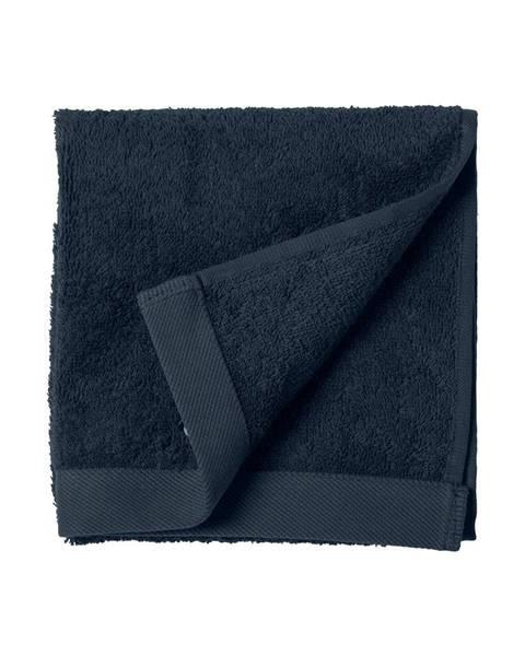 Södahl Modrý uterák z froté bavlny Södahl Indigo, 60 x 40 cm