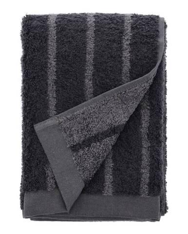 Sivý uterák z froté bavlny Södahl Stripes, 100 x 50 cm