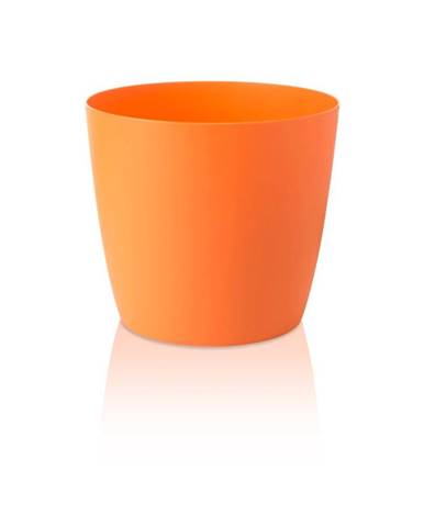 Oranžový kvetináč s pojazdnými kolieskami Gardenico Ella Twist&