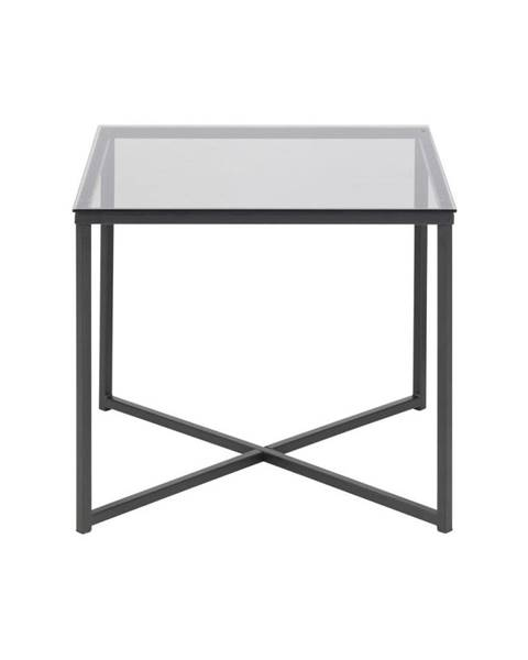 Actona Odkladací stolík so sklenenou doskou Actona Cross