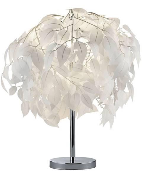 Trio Biela stolová lampa Trio Leavy, výška 60 cm