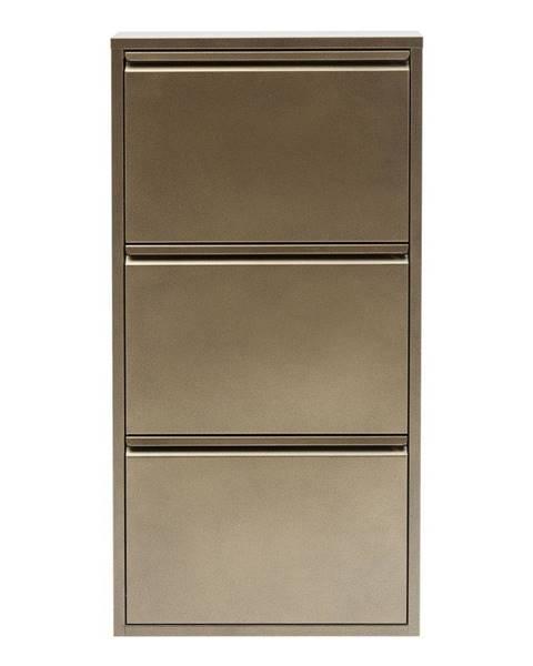 Kare Design Kovová skrinka na topánky v bronzovej farbe Kare Design Caruso