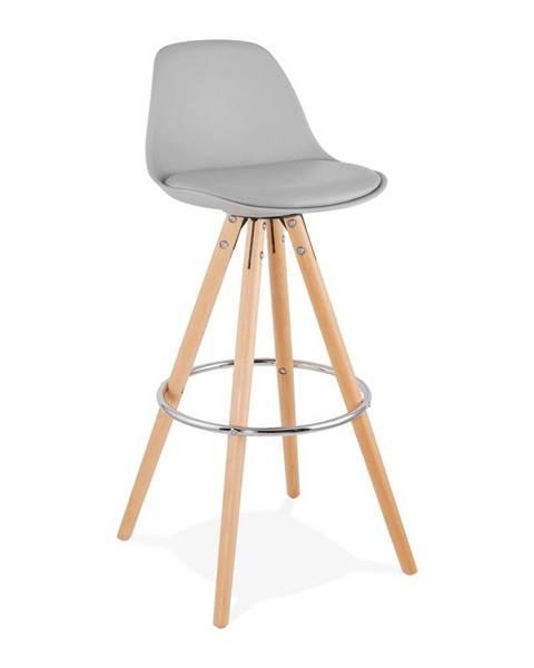 Kokoon Sivá barová stolička Kokoon Anau, výška 74 cm