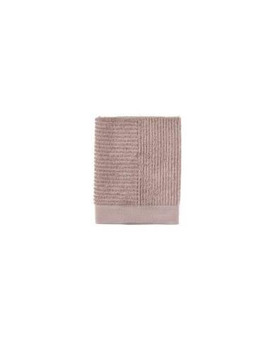 Béžový bavlnený uterák Zone Classic Nude, 50 × 70 cm