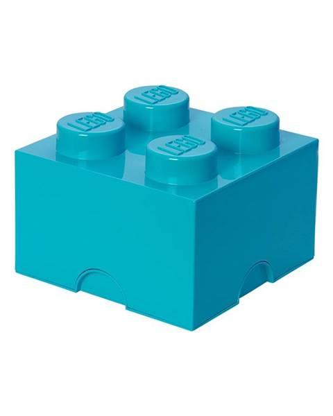 LEGO® Azúrovomodrý úložný box štvorec LEGO®